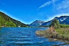 Alpe-vista italiana sul lago Haidersee Fotografia Stock