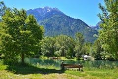 Alpe-vista italiana sul lago Rabland Fotografie Stock