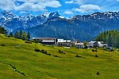 Alpe-vista svizzera sul bos-cha Fotografie Stock Libere da Diritti