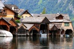 Alpejscy domy w Hallstatt fotografia royalty free