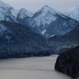 Alpejska Alpsee jeziora panorama obraz stock