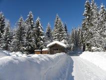 Alpejska pocztówka Zdjęcia Royalty Free
