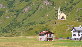 Alpejska wioska Zdjęcie Royalty Free