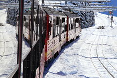 Alpejski Alps góry krajobraz przy Jungfraujoch Fotografia Stock