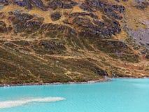 Alpejski halny jeziorny gleczeru krajobraz Zdjęcia Stock