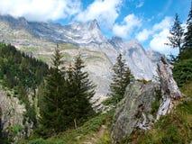 Alpejski halny Szwajcaria, Unterstock, Urbachtal Zdjęcia Royalty Free