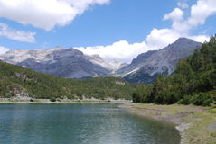 Alpejski jezioro zdjęcia royalty free