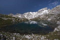 Alpejski jezioro Zdjęcia Stock