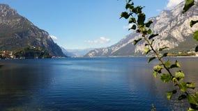 Alpejski jezioro w północnym Włochy Fotografia Stock