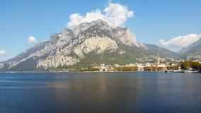 Alpejski jezioro w północnym Włochy Obraz Stock