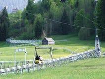 Alpejski kabotażowiec przy Jakobsbad - kanton Appenzell Ausserrhoden fotografia royalty free