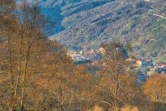 Alpejski krajobraz na Włoskiej stronie zdjęcie stock