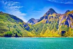 Alpejski krajobraz na Włoskiej stronie obraz royalty free