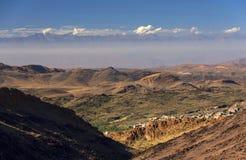 Alpejski krajobraz w Antiatlas górach Fotografia Stock