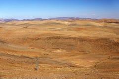 Alpejski krajobraz w Antiatlas górach Obrazy Royalty Free
