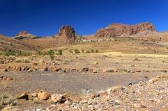 Alpejski krajobraz w Antiatlas górach Zdjęcie Stock