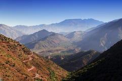 Alpejski krajobraz w atlant górach, Południowy Maroko, Afryka zdjęcie stock