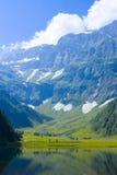 Alpejski krajobraz w lecie Zdjęcie Royalty Free