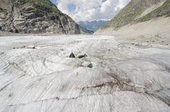 Alpejski krajobraz z górami i lodowem Zdjęcie Royalty Free