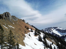 Alpejski krzyż Obraz Royalty Free