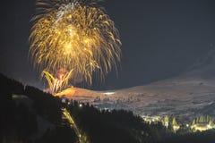 Alpejski ośrodek narciarski Serfaus Fiss Ladis w Austria fotografia stock