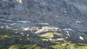 Alpejski szczytu landskape tło Jungfrau, Bernese średniogórze Alps, turystyka i przygoda wycieczkuje pojęcie, zbiory