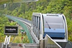 Alpejski wagon kolei linowej Zdjęcie Royalty Free