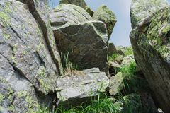 Alpejskie łąki Taganay Zdjęcia Royalty Free