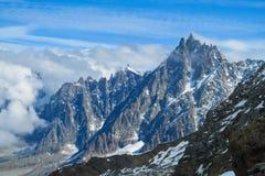 Alpen Aiguille du Midi royalty-vrije stock fotografie