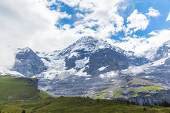 Alpen auf Bernese Oberland Lizenzfreies Stockfoto