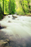 Alpen brook and sunset Royalty Free Stock Image