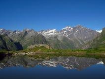 Alpen in de spiegel Royalty-vrije Stock Afbeeldingen