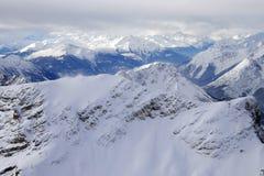 Alpen in de winter Stock Afbeelding