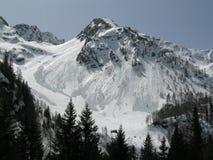 Alpen in de winter Stock Afbeeldingen