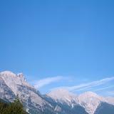Alpen in de zomer Stock Foto's