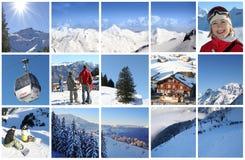Alpen in der Collage Stockfotografie