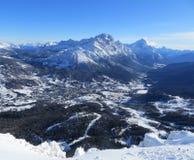 Alpen in der Winterzeit Lizenzfreies Stockbild