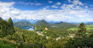 Alpen-Deutschland-Landschaft Lizenzfreie Stockbilder