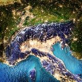 Alpen en Noord-Italië royalty-vrije illustratie