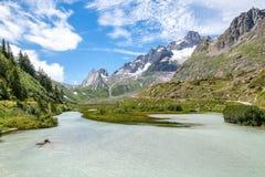 Alpen, Frankreich (durch Courmayeur) Stockbilder