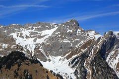 Alpen-Gebirgsvogelperspektive pH der Pilatus-Berg-Schweiz Schweizer Stockfotos
