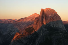 Alpen Glow on Half Dome Stock Photos