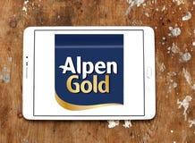 Alpen gold brand logo. Logo of alpen gold on samsung tablet royalty free stock photos