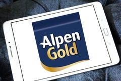 Alpen gold brand logo. Logo of alpen gold on samsung tablet royalty free stock photo