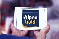Alpen gold brand logo. Logo of alpen gold on samsung tablet royalty free stock photography