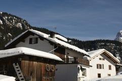 Alpen Häuser Lizenzfreies Stockbild