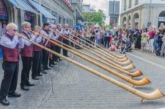 Alpen horn Royaltyfri Fotografi