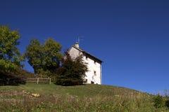 Alpen house. In the wild land of italy stock photos