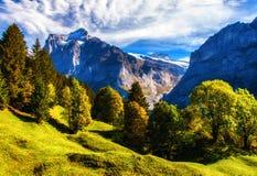 Alpen im Herbst stockfotografie