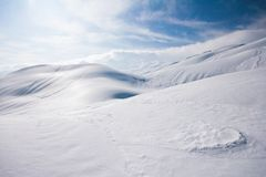 Alpen im Schnee Lizenzfreie Stockbilder
